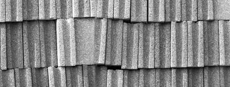 texture of dark grey concrete block material architecture banner background