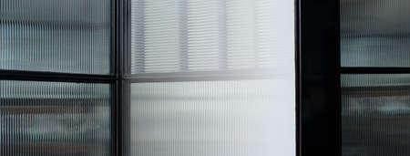 black glass modern window interior abstract architecture banner background