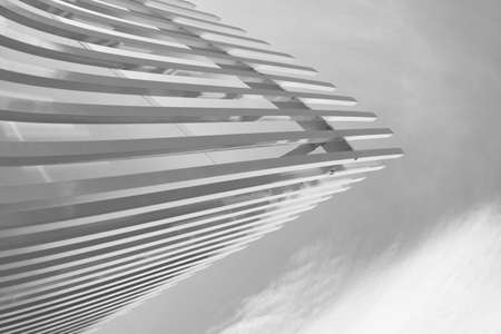 white grey curve line abstract structure modern minimalism architecture background Banque d'images