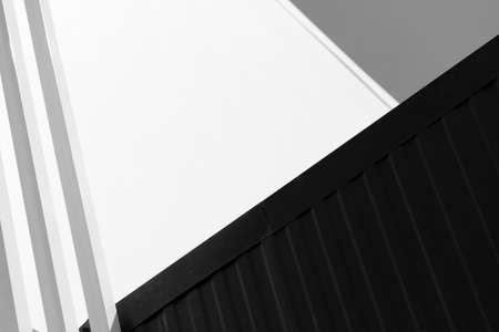 geometric line and cement abstract modern black and white architecture background