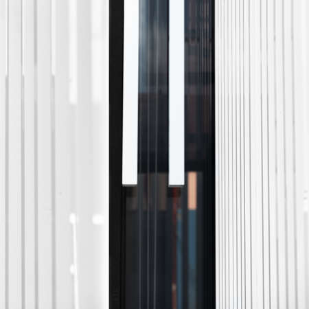 black and white modern line interior abstract architecture square background