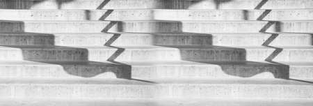 grey white cement stair case and shadow architecture banner background Imagens
