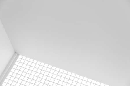 white geometric minimalism architecture building abstract background