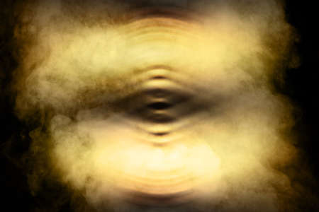 motion white fire smoke on goldenblack abstract dark background