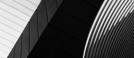 grey white and black line of cement and metal architecture banner background