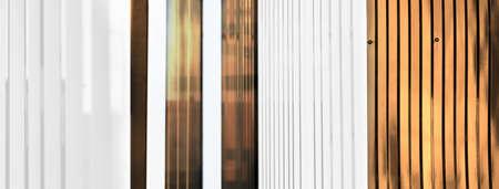 modern white copper golden metal wall architecture banner background