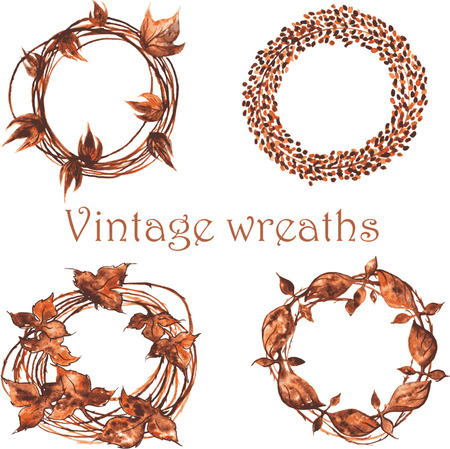 then: set of vintage wreaths , then, whether woven from twigs , then, whether of iron forged hundreds of years ago ....