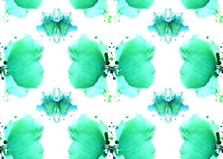 naadloos patroon, bestaande uit zachte blauwe abstracte aquarel vlekken