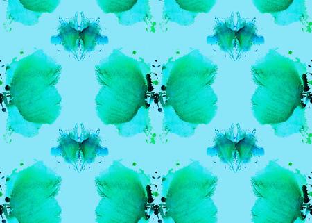 naadloze patroon, bestaande uit zachte blauwe abstracte aquarel vlekken