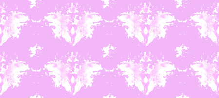 Naadloos patroon dat uit heldere purpere abstracte waterverfvlekken bestaat
