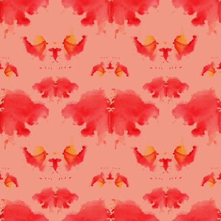 naadloze patroon, bestaande uit een gemodificeerde aquarel vlekken beeltenis van Rorschach Stockfoto