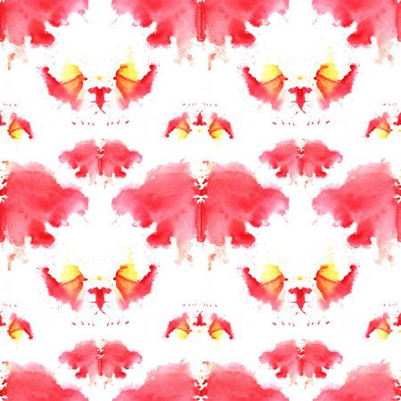 naadloos patroon, bestaande uit gewijzigde aquarel vlekken met afbeeldingen van Rorschach