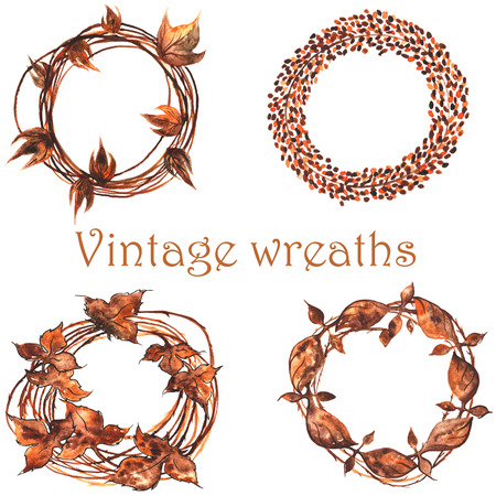 whether: set of vintage wreaths , then, whether woven from twigs , then, whether of iron forged hundreds of years ago ....