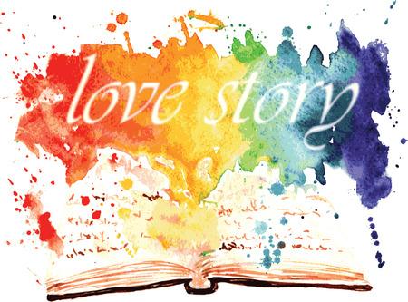 책 - 모든 장애를이긴 사랑의 금지에 대한 이야기. 스톡 콘텐츠 - 43694801