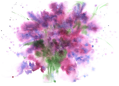 aquarel abstracte achtergrond, lila-paars, met kleine patches van groen