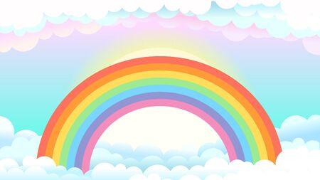 Regenbogen in Wolken
