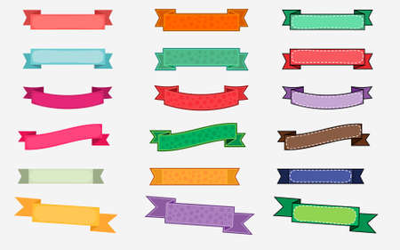 Colorful Ribbon Design Set