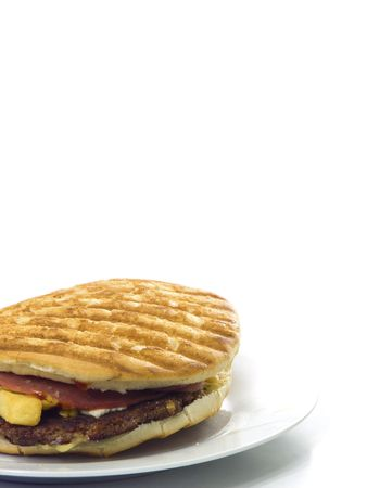 Home made hamburger isolated on white background Stock Photo - 8173719