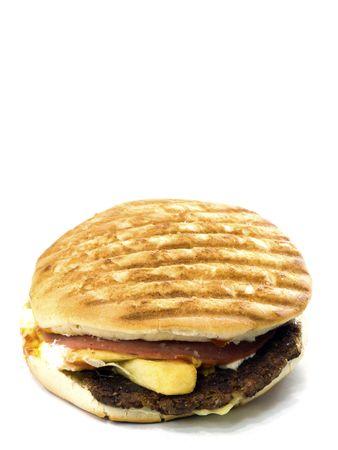 Home made hamburger isolated on white background Stock Photo - 8173726