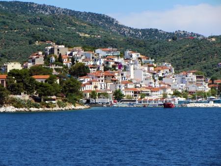 skiathos: Skiathos, Greek island at Vories Sporades. View of the island Stock Photo