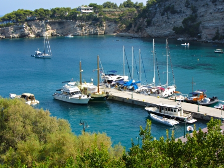 Alonissos Patitiri port, greek island at Vories Sporades                                photo