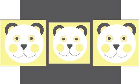 Illustrated bears