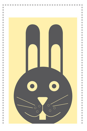 Illustrated rabbit