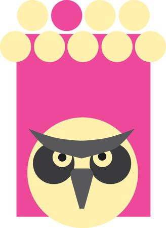 Illustrated owl Ilustrace