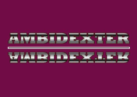 design strict metal logo, banner