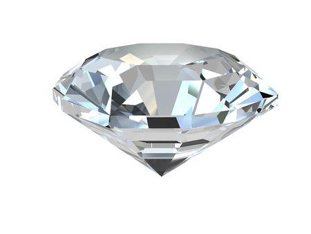 piedras preciosas: Diamante aisladas sobre fondo blanco. De alta resoluci�n 3D render Foto de archivo
