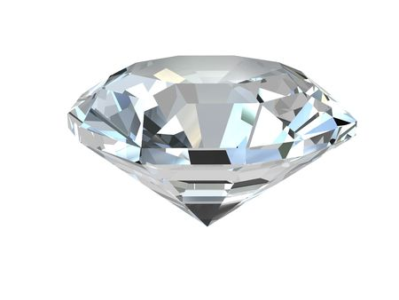 Diamond isolated on white background. High resolution 3D render Archivio Fotografico