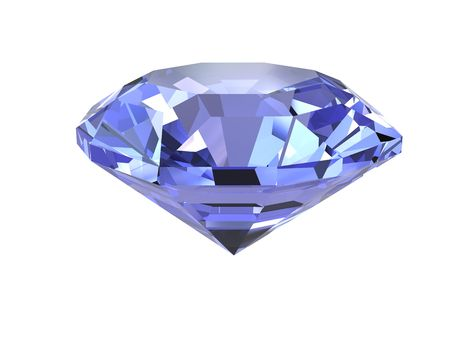 Blue diamond isolated on white background. High resolution 3D render Stock Photo - 4686006