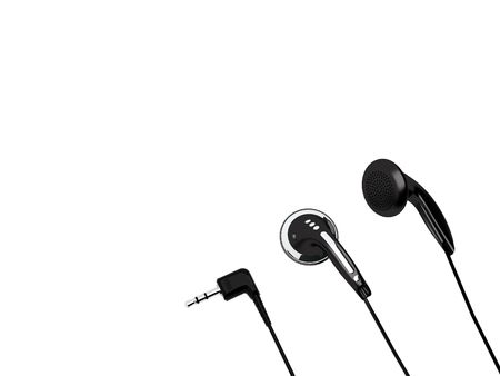 High resolution 3D render of headphones and stereo MiniJack isolated on a white background Stock Photo - 4806135