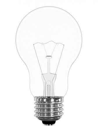 Light bulb isolated on white background. High resolution 3D image. Stock Photo - 4806145