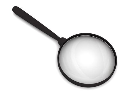 Magnifying glass with soft shadows on white. High resolution 3D image Stock Photo - 4806139
