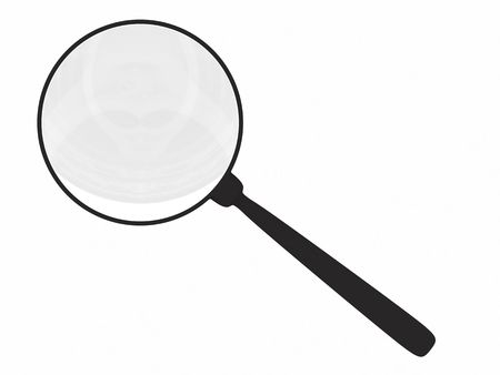 Magnifying glass isolated on white. High resolution 3D render Stock Photo - 4806138