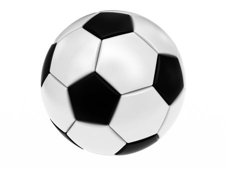 Soccer ball isolated on white. High resolution 3D image.