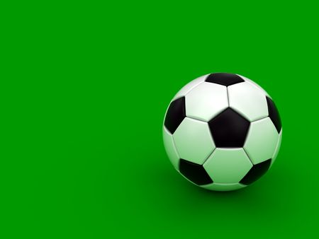 Soccer ball on the green background. High resolution 3D image Stock Photo - 5238451