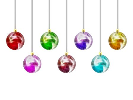 Christmas balls isolated on white background. High resolution 3D image photo