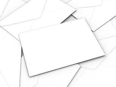 White business envelopes