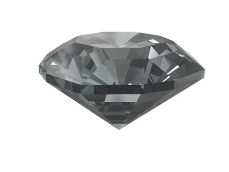 queen of diamonds: Black diamond isolated on white background. High resolution 3D render
