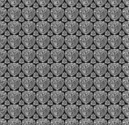 Seamless pattern composed of diamonds on black background. High resolution 3D image photo