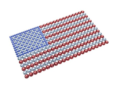 Flag of the USA composed of different color brilliants. High resolution 3D image Stock Photo - 7393646