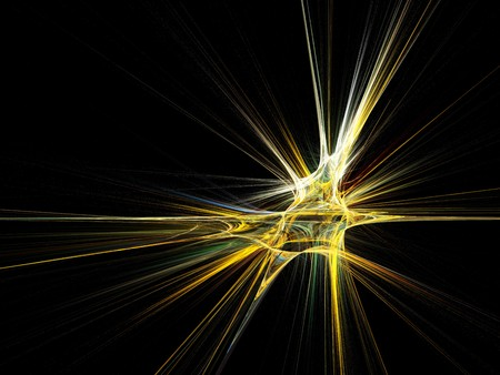 Fractal star burst on black background. High resolution abstract image Stock Photo - 7672315