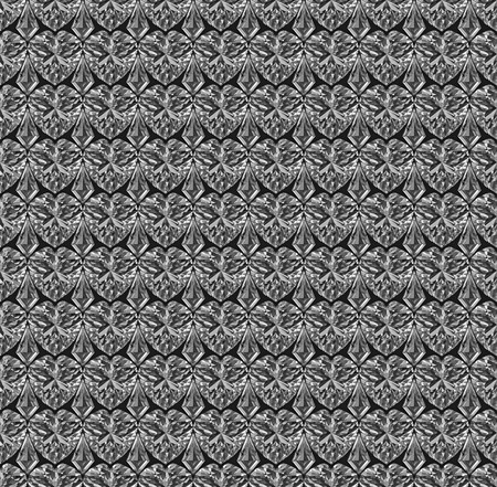 Seamless pattern composed of diamonds. High resolution 3D image photo