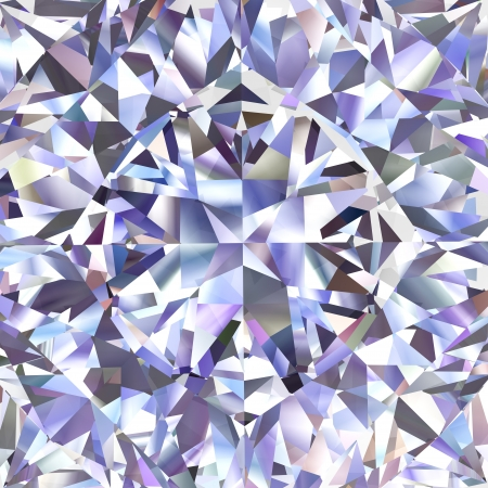 Diamond geometric pattern of colored brilliant triangles  High resolution 3D image photo
