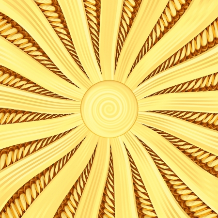 star burst: Golden sunburst background with rays and beams  High resolution 3D image