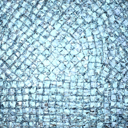 Background composed of many ice cubes. High resolution 3D image photo