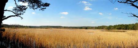 ベルギーのどこかで湖の大パノラマ