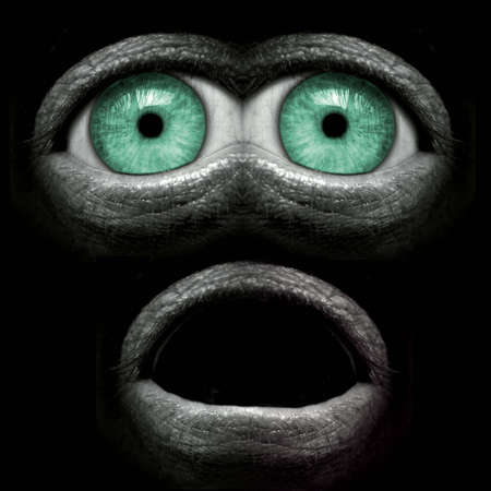 My interpretation of a sweet little alien called E.T. Stock Photo